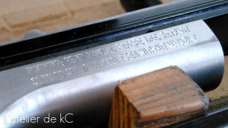 carcasse 92brigadier - gravure consignes secu
