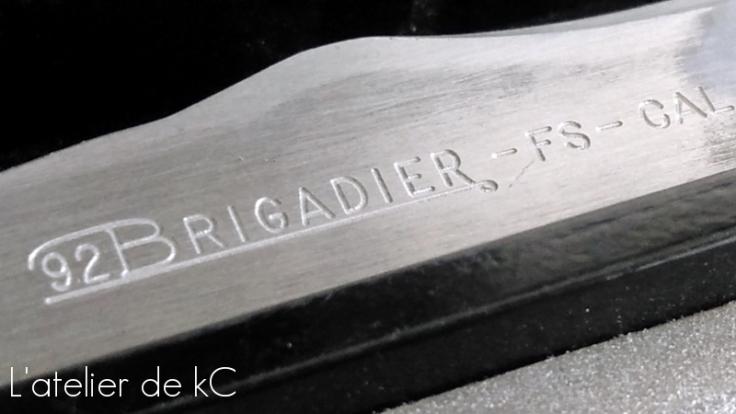 culasse 92 Brigadier - détail gravures 92Brigadier