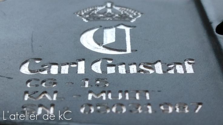 M4 GHK Carl Gustaf-detail profondeur gravure