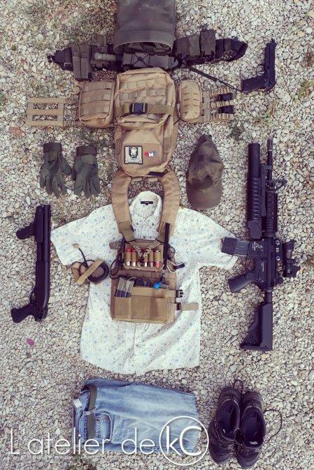 Hawaiian shirt coyote ranger green PC loadout airsoft