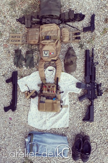 Hawaiian shirt coyote ranger green PC loadout airsoft