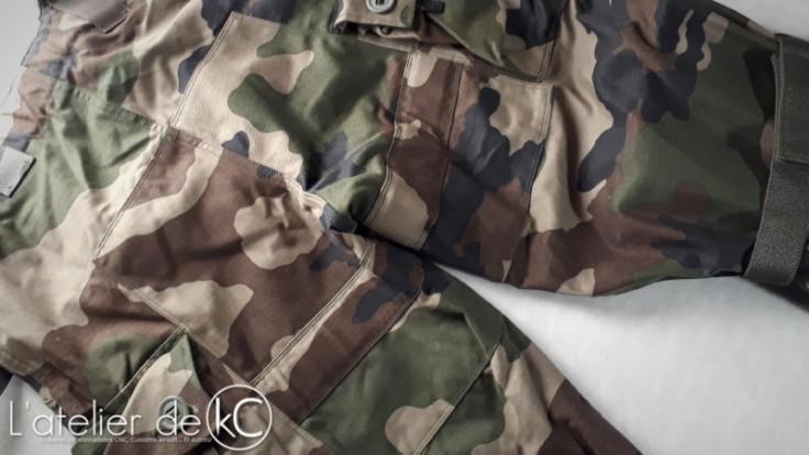 Pantalon Treillis Francais CE T4S2 Felin renfort fessier-1
