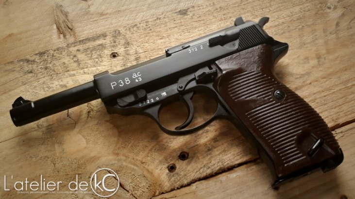 WE Walther P38 gbb engraved AC43-1