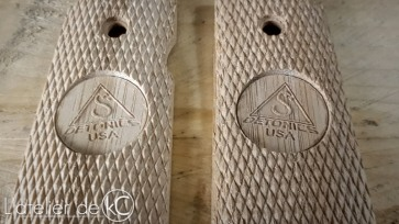 Detonics bamboo grips custom engraved1