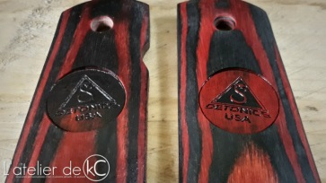 Detonics cocobolo grips custom engraved1