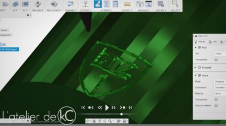 usinage 3D blason k98k