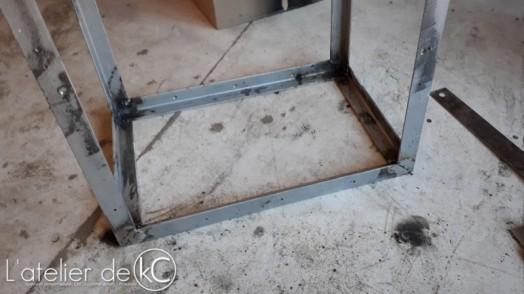 DIY wood rack welding1