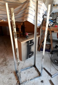 DIY wood rack wood stove1