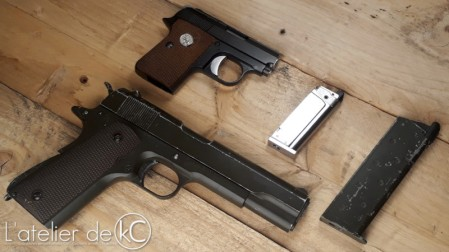 WE colt 25 gbb bell 1911 size comparison1