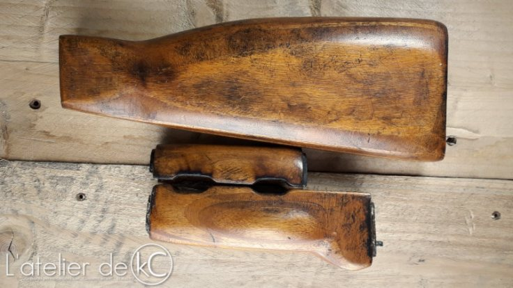 Airsoft AK47 laminated wood stock home made1