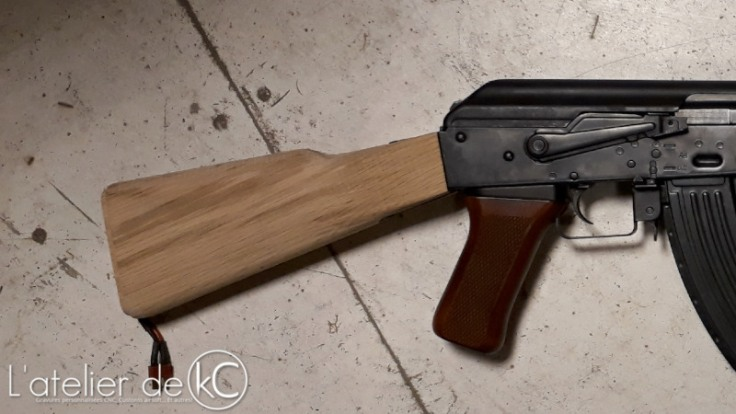 AK47 milled wood stock1