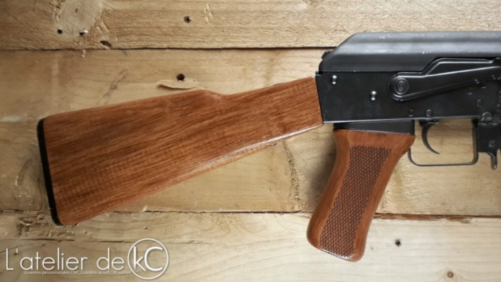 home made stock LCT wood grip AK47 type 56 airsoft AEG2