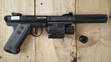 MK1 3D printed barrel-silencer and flashlight1