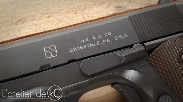 Army Armament M1911 A1 US&S custom WW2 engraving-3