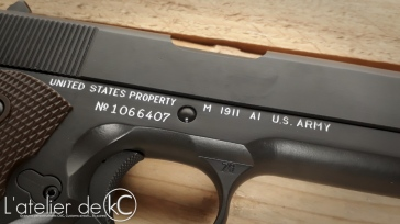 Army Armament M1911 A1 US&S custom WW2 engraving-4