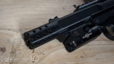 KJ MK1 3D printed upper flash hider closeup1