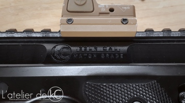 KJ MK1 3D printed upper markings closeup 1