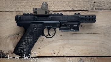 KJ ruger MK1 MKIV 3D printed custom upper silenced surefire XC1 trijicon RMR1