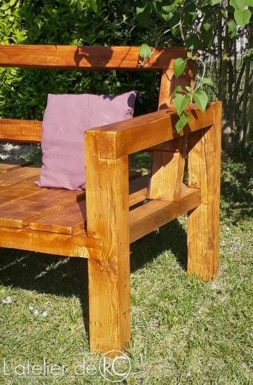 Canapé palette jardin recup DIY bois sofa bench wood pallet garden 2