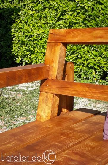 Canapé palette jardin recup DIY bois sofa bench wood pallet garden 3