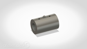 kj mk1 3D model stl outer barrel silencer adapter 1