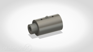 kj mk1 3D model stl outer barrel silencer adapter 16CW