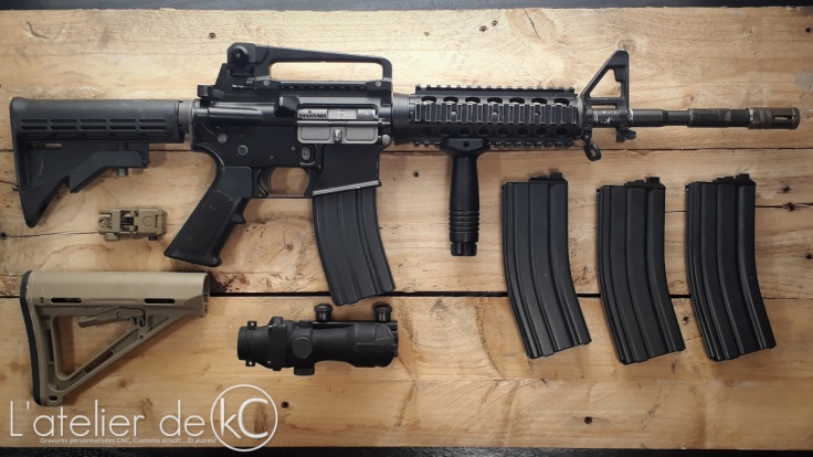 WE M4 ris open bolt GBBR lot occasion1