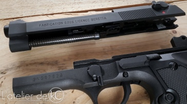 SRC SR92 m9 gbb airsoft replica disassembly review 2